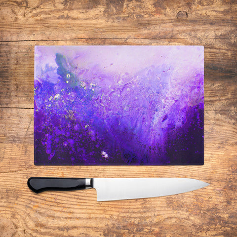 Violet Glass Chopping Board - Louise Mead