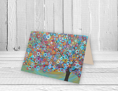 Circus Tree Greeting Card - Louise Mead