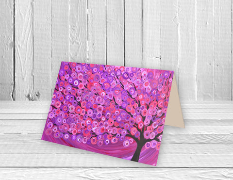 Raspberry Tree Greeting Card - Louise Mead