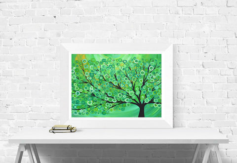 Green Tree Print - Louise Mead