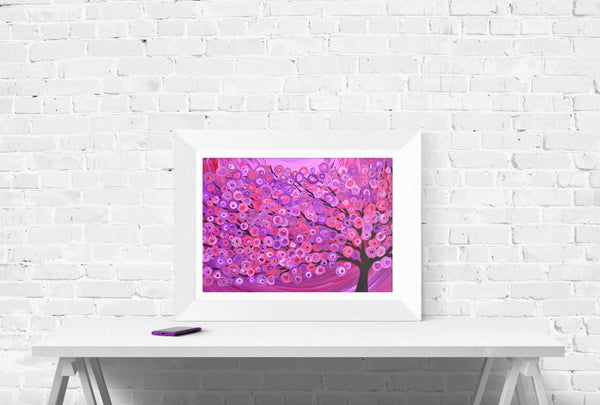 Raspberry Tree Wall Art Print - Louise Mead