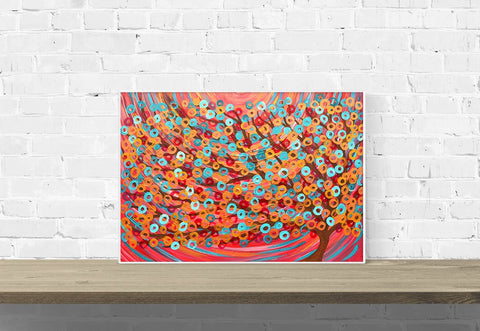 Red Tree Wall Art Print - Louise Mead