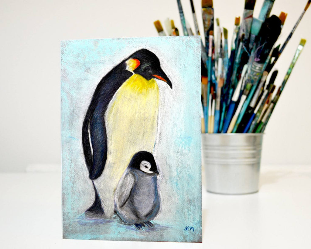 Penguins Greeting Card - Louise Mead