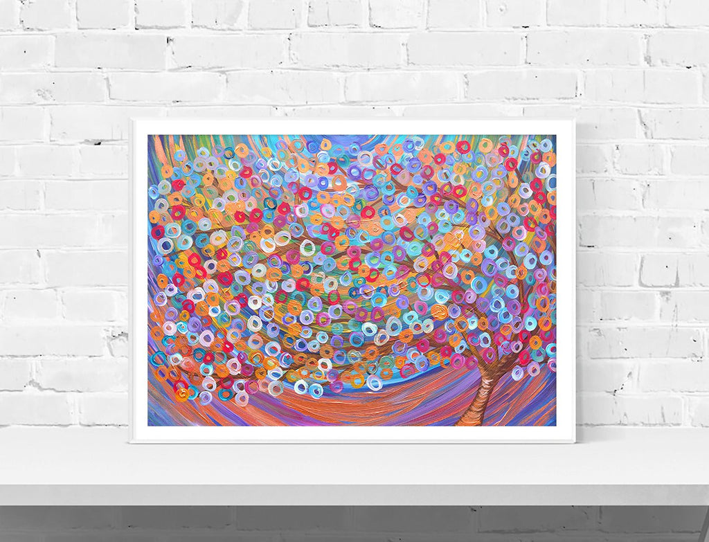 Purple Tree Wall Art Print - Louise Mead