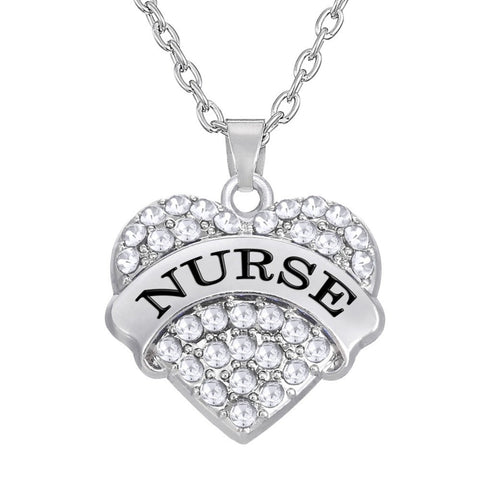 Heart Shaped Crystals Necklace For Nurses - FREE + Shipping
