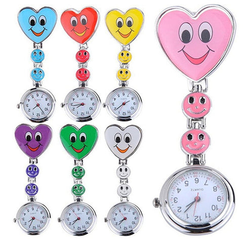 Cute Smiling Faces Heart Clip-On Pendant