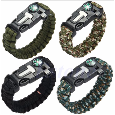 Paracord Survival Bracelet - Free + Shipping