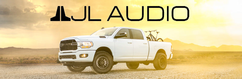 JL Audio With white truck