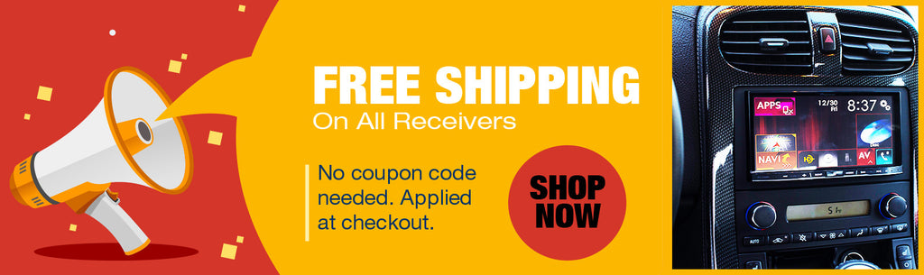 Free Shipping on All Receivers - No coupon code needed