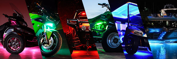 Multi colored lights for powersports
