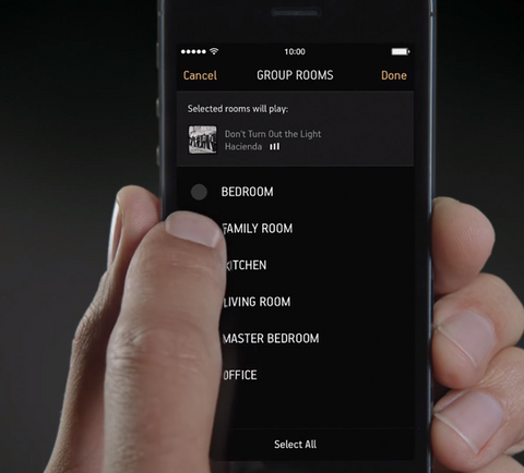 Sonos App Demo on a Smartphone
