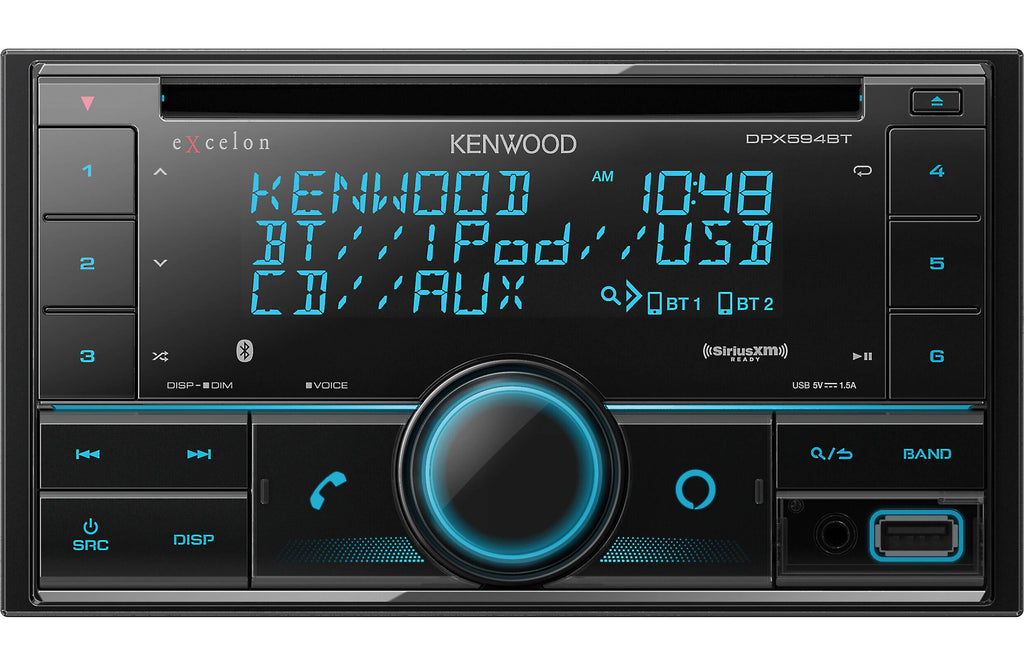 Kenwood Excelon DPX594BT 2-DIN CD Receiver w/Bluetooth & USB - Freeman's Car Stereo