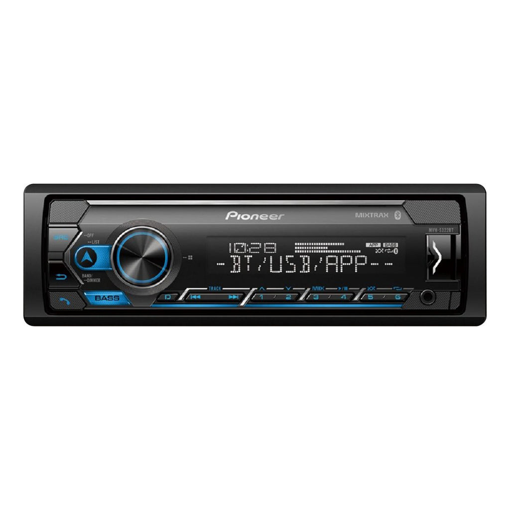 Pioneer MVH-S322BT Bluetooth Digital Media Receiver w/ Smart Sync and MIXTRAX® - Freeman's Car Stereo