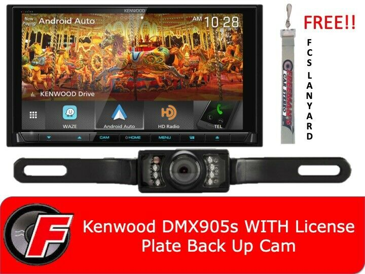 "Kenwood DMX905S WITH B/U Camera  6.95"" Digital Multimedia Receiver - Apple CarPlay - Android Auto"