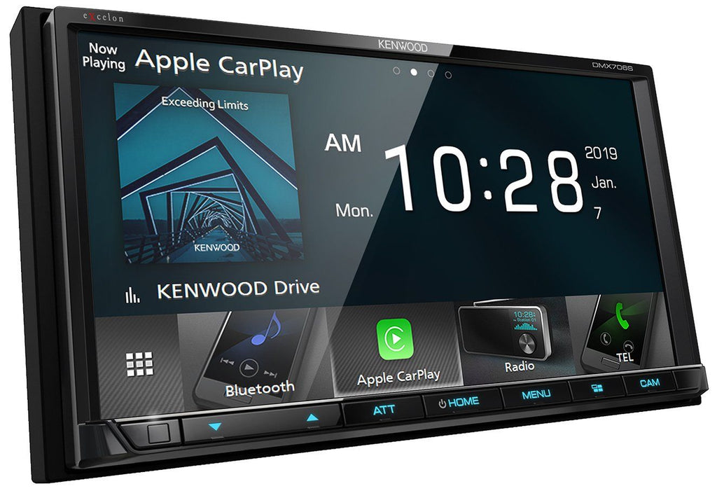 "Kenwood Excelon DMX706S 6.95"" Apple CarPlay and Android Auto Multimedia Receiver - Freeman's Car Stereo"