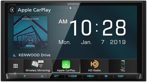 "Kenwood DDX8905s 6.95"" Hi-Res Audio, Apple CarPlay, Android Auto, Waze Ready, Bluetooth"