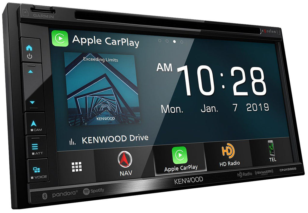 Kenwood Excelon DNX696S 6.8 Inch Apple CarPlay, Android Auto DVD Receiver with Navigation and Bluetooth