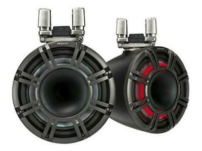 "Kicker 44KMTC114 11"" Horn Tower Speakers With LED Grilles - Black"