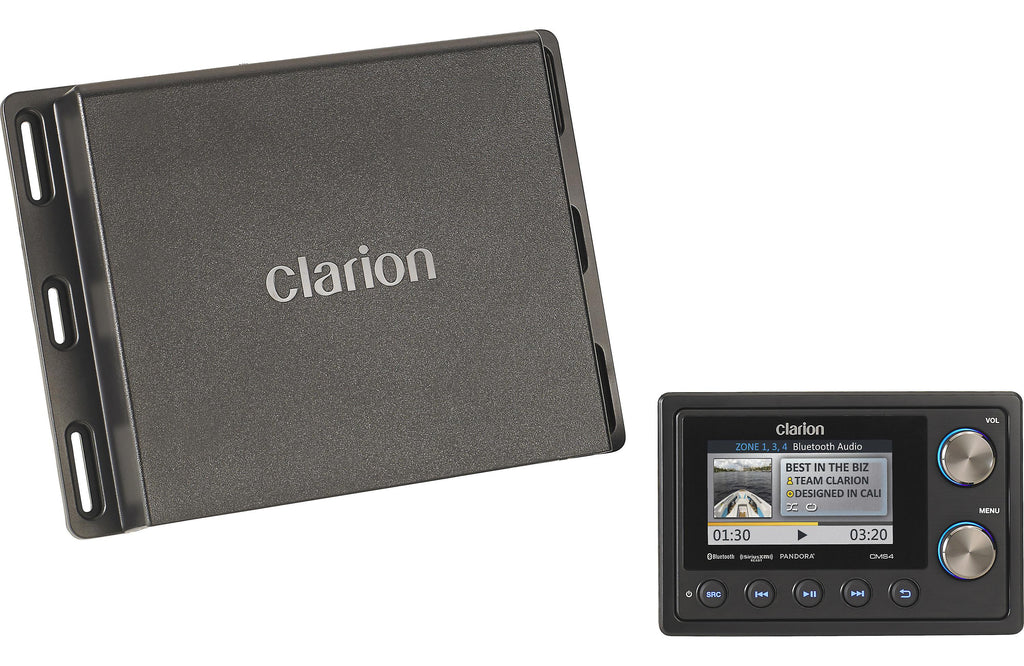 Clarion CMS4 Marine Black Box Digital Media Receiver with Watertight Commander
