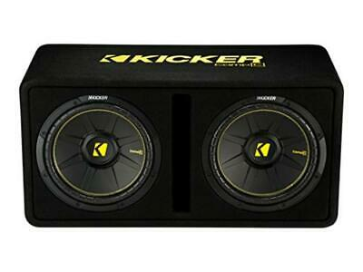 Kicker 44DCWC122 Dual CompC 12-inch Subwoofers in Vented Enclosure, 2-Ohm, 600W - Freeman's Car Stereo
