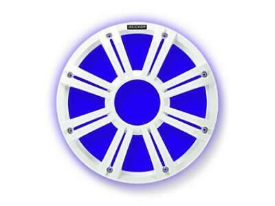"Kicker 45KMG10W 10"" Grille For Kicker KM10 and KMF10 Subwoofers 2/Built-In LEDs - White"