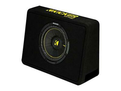 Kicker 44TCWC102 CompC 10-inch Subwoofer in Thin Profile Enclosure, 2-Ohm, 300W - Freeman's Car Stereo