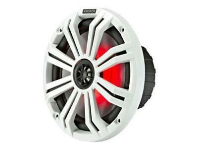 "Kicker 45KM84L 8"" full-range marine speakers with LED lighting"