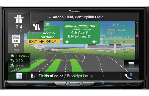 "Kenwood DNX695S 6.8"" Navigation - High-Res Audio - Apple CarPlay -Android Auto"