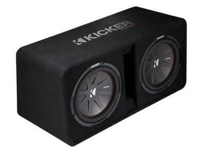 Kicker 43DCWR122 CompR Dual 12-inch Subwoofers in Vented Enclosure, 2-Ohm, 1000W
