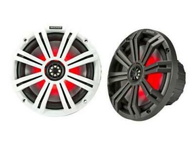 "Kicker 45KM84L 8"" full-range marine speakers with LED lighting - Freeman's Car Stereo"
