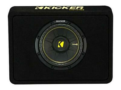 Kicker 44TCWC102 CompC 10-inch Subwoofer in Thin Profile Enclosure, 2-Ohm, 300W