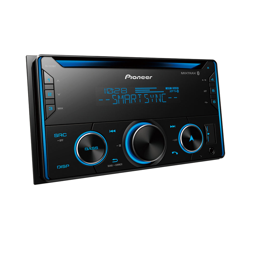 Pioneer FH-S520BT Double DIN CD and Bluetooth Receiver with Smart Sync