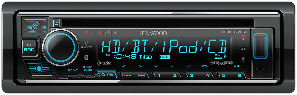 Kenwood KDC-X704 eXcelon - CD Receiver w/ Alexa Voice Control - Freeman's Car Stereo
