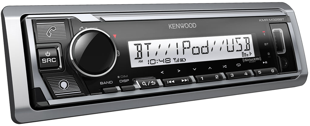 Kenwood KMR-M328BT Marine Media Receiver with Bluetooth and Alexa Built-in - Freeman's Car Stereo