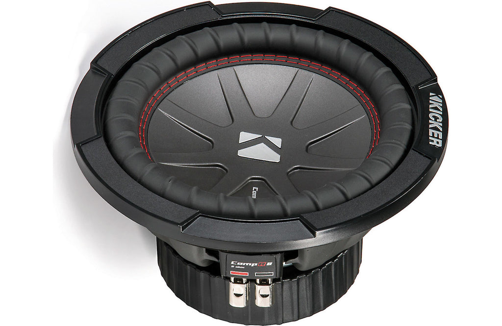 Kicker 43CWR84 CompR 8-Inch Subwoofer, Dual Voice Coil, 4-Ohm, 300W