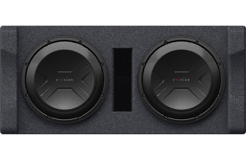 "Kenwood eXcelon P-XW1221D Dual 12"" Preloaded Subwoofer Enclosure, 600W RMS Power"