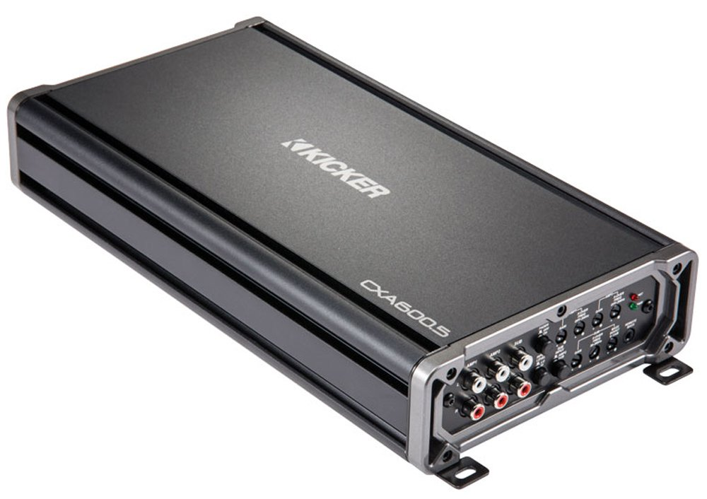 Kicker 43CXA600.5 5 Channel Car Amplifier - 40 watts RMS x 4 at 4 ohms + 300 watts RMS x 1 at 2 ohms
