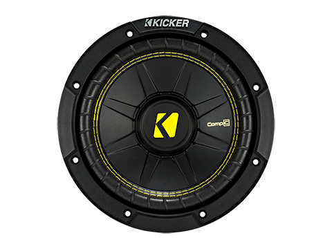"Kicker 44CWCS84 CompC 8"" Subwoofer, Single Voice Coil, 4-Ohm, 200W - Freeman's Car Stereo"