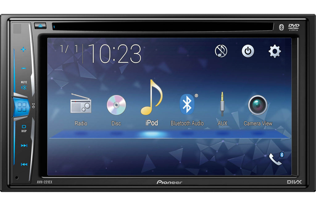 "Pioneer AVH-221EX Multimedia DVD-Receiver with 6.2"" WVGA Display & Built-in Bluetooth - Freeman's Car Stereo"