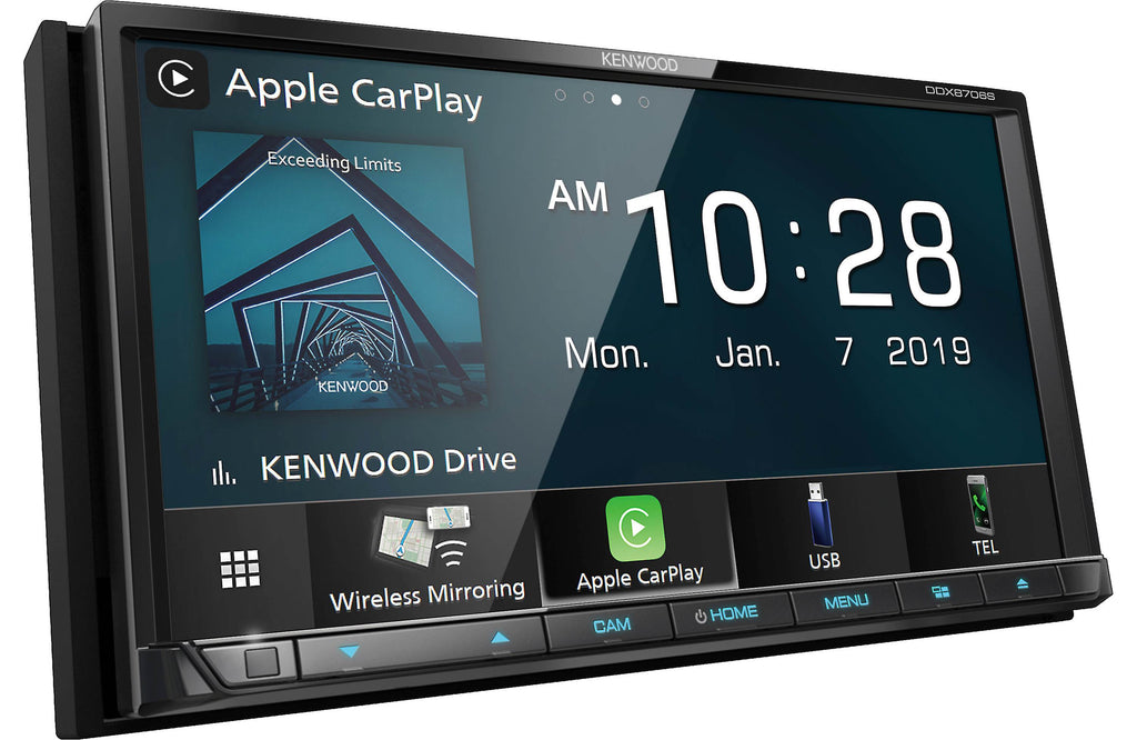 "Kenwood DDX8706S 6.95"" DVD Touchscreen Receiver w/ Apple CarPlay & Android Auto - Freeman's Car Stereo"