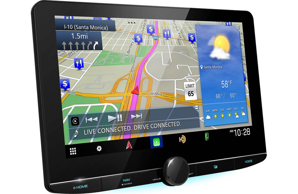 "Kenwood eXcelon DNR1007XR 10.1"" Navigation Multimedia Receiver"