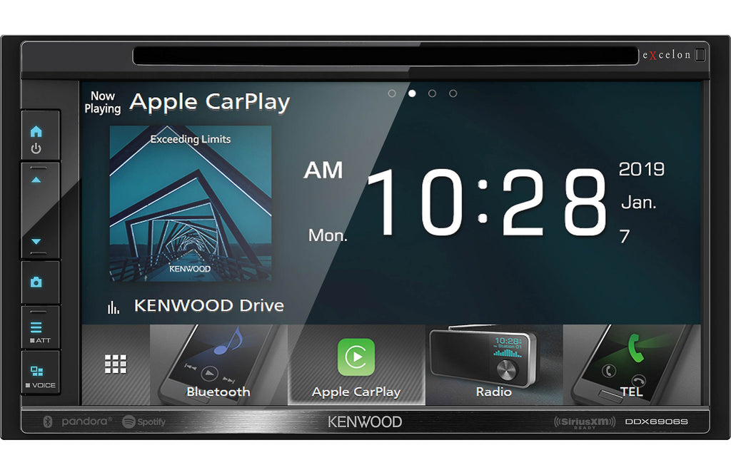 "Kenwood Excelon DDX6906S 6.8"" Apple CarPlay & Android Auto DVD Receiver"