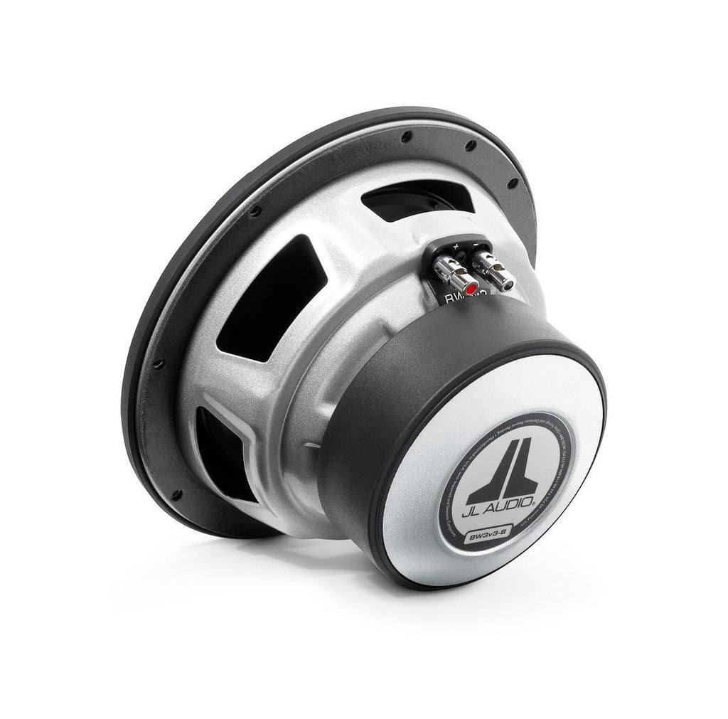 JL AUDIO 8W3v3-4 - W3v3 8-inch Subwoofer Driver (250 W, 4 Ω) - Freeman's Car Stereo