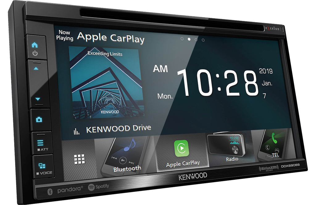 "Kenwood Excelon DDX6906S 6.8"" Apple CarPlay & Android Auto DVD Receiver - Freeman's Car Stereo"
