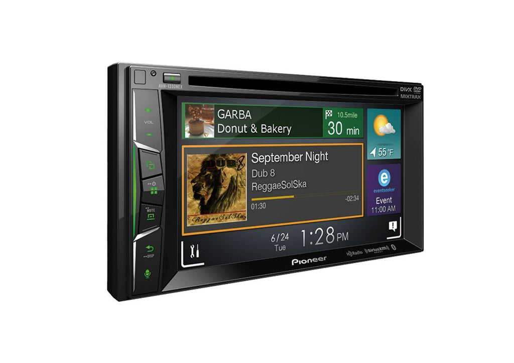 "Pioneer AVH-1330NEX Multimedia DVD Receiver with 6.2"" WVGA Display"