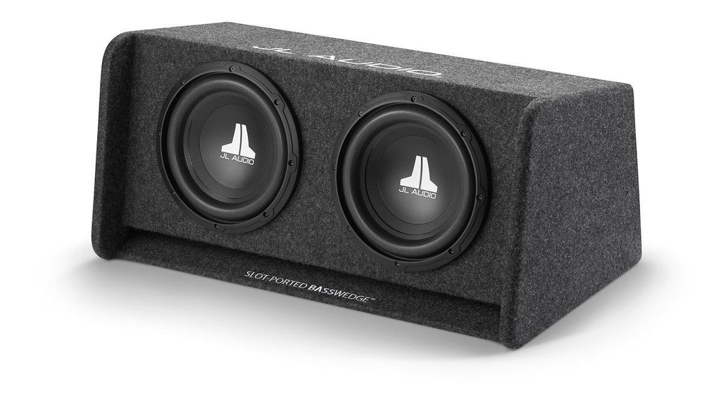 JL AUDIO CP210-W0v3 - Dual 10W0v3 BassWedge, Ported, 2 Ω - Freeman's Car Stereo