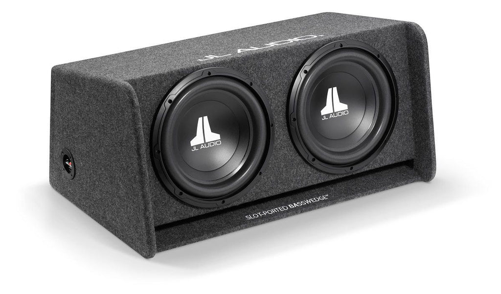 JL AUDIO CP212-W0v3 - Dual 12W0v3 BassWedge, Ported, 2 Ω - Freeman's Car Stereo