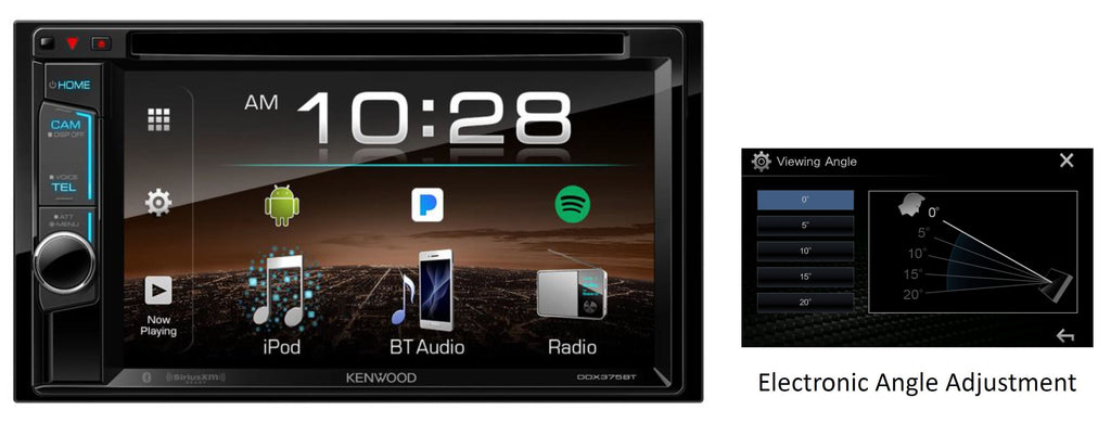 "Kenwood DDX375BT 6.2"" Multimedia Receiver - Freeman's Car Stereo"