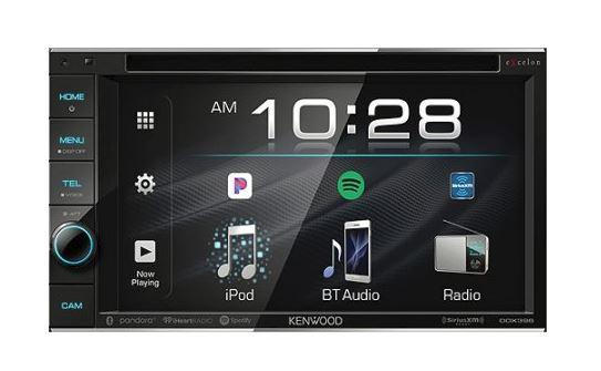 Kenwood eXcelon  DDX-396 Double DIN Monitor In-Dash Bluetooth DVD Receiver - Freeman's Car Stereo
