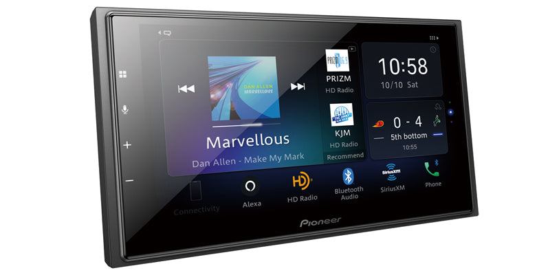 "Pioneer DMH-W4660NEX In-Dash Multimedia Receiver with 6.8"" WVGA Capacitive Touchscreen Display"